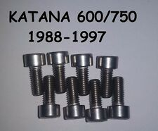 Suzuki Katana 600 750 Stainless Carburetor Carb Float Bowl Screws (88-97)
