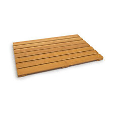 Badvorleger Bambus 53,5x35,5cm rutschfest Holzvorlegerost Duschvorlage Holzrost