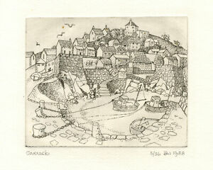 B.W., Coverack, Lizard Peninsula, Cornwall–1988 Limited Edition drypoint etching