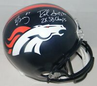 ED McCAFFREY & ROD SMITH AUTOGRAPHED SIGNED DENVER BRONCOS FULL SIZE HELMET JSA