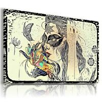 MYSTERIOUS LADY ABSTRACT Canvas Wall Art Abstract Picture Large SIZES  212