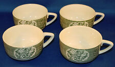 """4 VINTAGE ROYAL CHINA """"THE OLD CURIOSITY SHOP"""" Coffee Cups"""