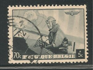 Belgium #B211 (SP77) VF USED - 1938 70c+5c King Leopold III in Military Plane