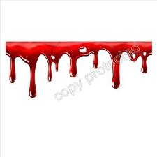 funny car bumper sticker red blood dripping bleeding realistic 135 x 50 mm decal