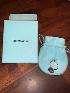 Tiffany Amethyst Rose Gold Ring Size 8