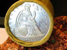 1842 Seated Liberty End / 1892 Very Nice Morgan Dollar Roll$20 #Mm141