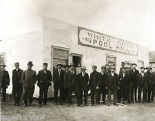 White River Ontario Pool Hall Old Time Pool Players First Nation Twenty Men