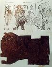 ANCIEN CLICHÉ D'IMPRIMERIE ( TAMPON ) CARICATURE SATIRIQUE L'ENQUÊTE