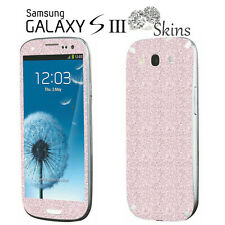 Glitzerfolie Samsung Galaxy S3 i9300 Skin Sticker Aufkleber Bling Strass Folie