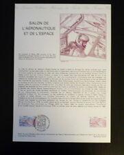 FRANCE MUSEE POSTAL FDC 24-81  SALON AERONAUTIQUE ET ESPAC  2F  LE BOURGET  1981