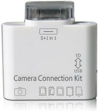 KIT OTG CAMERA CONNECTION 5+1 IN 1 CONNESSIONE IPAD 1 2 3 IPHONE 4 4S USB SD MMC