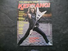 Vintage Music Magazine Kerrang! No. 32 Dec 30 - Jan 12, 1983 AC/DC