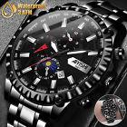 Waterproof Mens Watch Relojes De Hombre Stainless Steel Quartz Classic Luminous