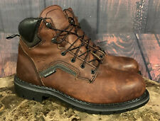 "Red Wing Boots 2226 Mens Brown Leather 6"" Steel Toe Dyna Force Size 12 D NEW"