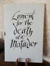 [Corrida] FULTON/VAVRA/GARCIA LORCA Lament for the death of a matador 1964  EO