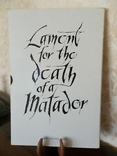 FULTON/VAVRA/GARCIA LORCA Lament for the death of a matador 1964  EO 4 litho