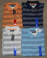 Nautica Striped Short Sleeve Polo Shirts Asst Colors & Sizes NWT