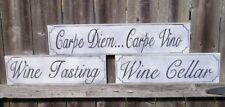 HP WINE LOVERS 3 PACK OF SIGNS CUSTOME COLORS WOOD