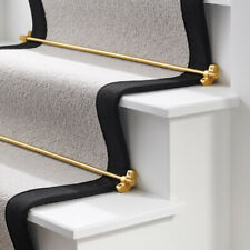 Solid Brass Black, Gold, Antique Gold & Silver Knurled Carpet Runner Stair Rods