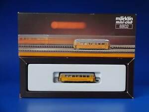 MARKLIN Z - 8802 - Yellow Railbus Track Cleaning Car / BOX - EXC