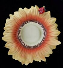 Partylite~Sunflower With Ladybug ~Candle Tealight Votive Holder~Fall Summer