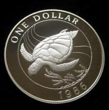 Bermuda Dollar 1986 sterling Silver crown .8410 Proof sea turtle