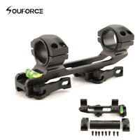 "Quick Release 1"" to 30mm Ring rifle Scope Mount&Bubble Level 20MM Picatinny Rail"