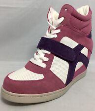 WILD DIVA LOUNGE Wedge Hightops Sneakers Trainer Boot Pink 7UK 40EU 10US