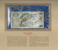 Most Treasured Banknotes Sri Lanka UNC 1979 20 Rupees P 86  Prefix K/13