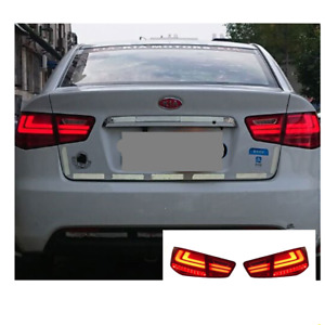 LED Tail Lights For Kia Forte 2010-2013 Sequential Signal Smoke Replace OEM