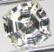 SPECIAL FANCY WEB CUT 8 MM. OFF WHITE YELLOW RUSSIAN CUBIC ZIRCONIA CZ