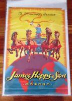 Manifesto pubblicitario  della James Hopps & Son di Mazzara del Vallo