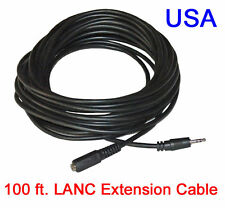 100 ft LANC Remote Extension Cable Heavy Duty - For all LANC controllers - USA