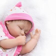 16 pouces Silicone Reborn Toddler Poupée Dormir Bébé Poupée Fille Yeux N1N3