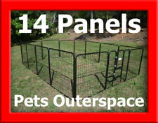 14 X Super Large Galvanized Exercise Pen Dog Run Puppy Portable Enclosure Kennel