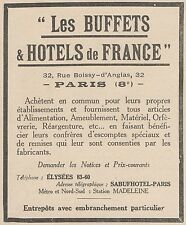 Z8820 Les BUFFETS & HOTELS de FRANCE - Pubblicità d'epoca - 1925 Old advertising