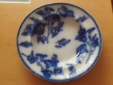 Vintage Opaqer Granite China WR. S &Co Convolvolus Blue Floral Serving Bowl.