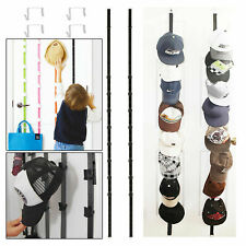 4pcs Baseball Cap Rack Storage Closet Organizer Hanger Over Door Hat Holder