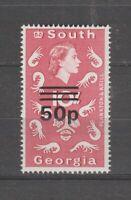 39454) South Georgia 1976 MNH Def. 50p Ovptd Wmk 12