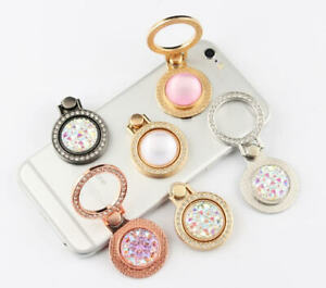 360 Rotating Cell Phone Ring Stand Holder iPhone Galaxy Android- Bling Crystal