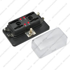 4 Way Blade Fuse Box / Holder Bus Bar With LED Failure Warning 12V 24V