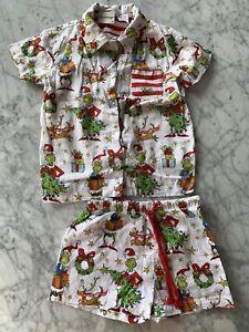 Peter Alexander Jnr Boys Size 3 Grinch Christmas Pyjama Set