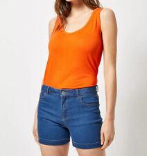 Dorothy Perkins Women Stretch Summer Blue Slim Jeans Denim Shorts 10 12 14 16 18
