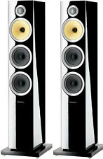 "NEW B&W Bowers & Wilkins CM8 S2 Dual 5"" 3-Way Floorstanding Speaker Pair BLACK"