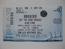 ALAN CARR  O2 LONDON  06/11/2011  TICKET