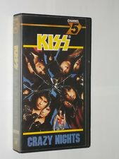 Kiss Crazy Nights 3 Track Channel 5 VHS Video. 1988. Polygram Records CFV 07782.