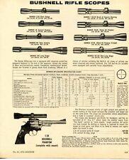 1972 Print Ad of Bushnell Rifle Scope Banner Riflescope Short Range Open Country