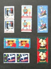 Us-1941, 1945, 1946, 1948, 1949 & 1950-Christmas Seals in Joined pairs-Mnh Cind