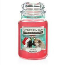 Yankee Candle Pugs and Kisses Large Jar Christmas Scent Limited Edition ! NEW !