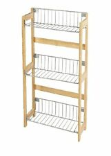 Bamboo 3 Tier Wood Kitchen Rack with 3 Shelves for Storage Unit New